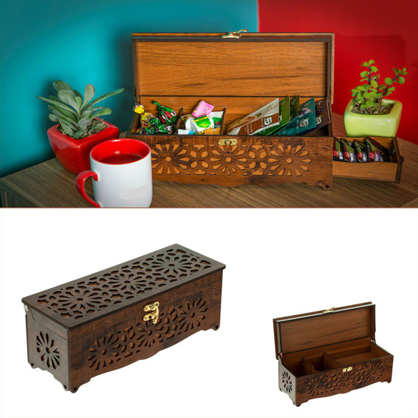 خرید جعبه هدیه چوبی و خشکبار و آجیل Bf001G
