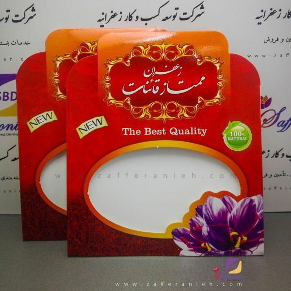 پاکت قرمز بسته بندی زعفران با حجم یک مثقال