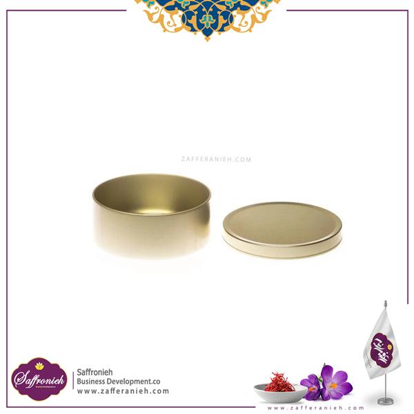 قوطی فلزی بدون طلق قطر 6.5 ارتفاع 3 (100طلایی)