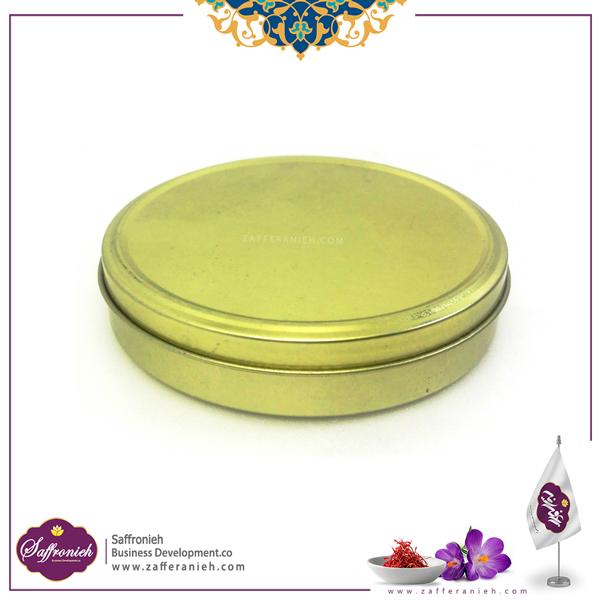 قوطی فلزی بدون طلق قطر 10 ارتفاع 2.5 (300 طلایی)