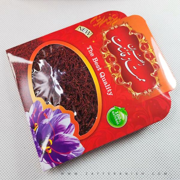 زعفران یک مثقالی بسته بندی مقوایی