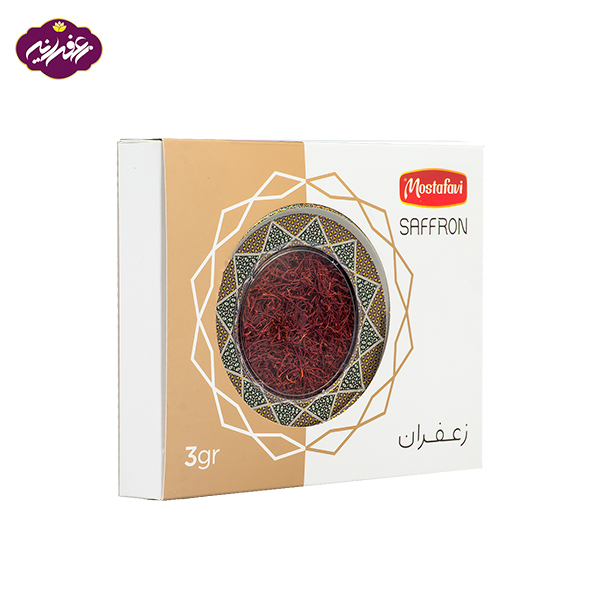پک هدیه زعفران در بسته بندی خاتم 3 گرم